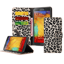 BRG Button Leopard leather case for Samsung Galaxy Note 5, wallet leather case for Samsung Galaxy Note 5