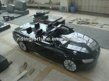 Black granite stone car statue