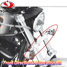 Factory promotion motor front directional relocation kit chrome color for Harley Dyna