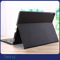 New arrival wireless bluetooth keyboard leather case for iPad pro