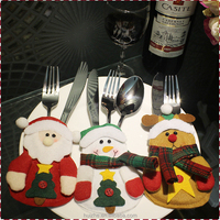 Felt Snowman style knife and fork bag ,Snowman Holiday Silverware Holders