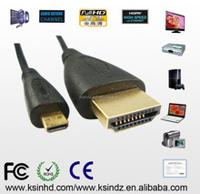 HDMI to mini HDMI cable with Ferrite Core CE RoHS Tpye A to Type C