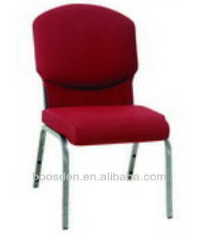 Used cheap padded stackable church chair, useding chair for church, auditorium chair BSD-251064