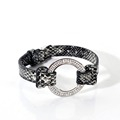 Factory Direct More Colour Crystal Snake Leather Bracelet