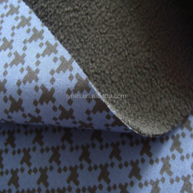 320gsm newly design laminated tpu and bonded fleece fabric