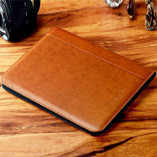 2016 Luxury Series Leather Material calculator Style Brown Color Portfolio
