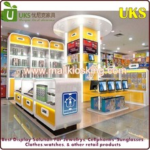 Glass locked display short counter Computer certificate cabinet design kiosk for sale