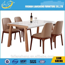 DT014 2105 China supplier modern design LED light up baroque furniture dining table for hotel and lobby