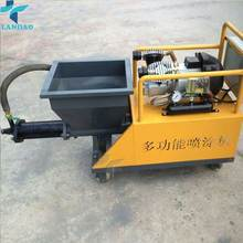 China Concrete Mortar Screw Grouting Spraying Automatic Wall Cement Plastering Machine Export to India