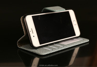 High Quality Straw Mat Streak Leather Protective Wallet Case For Iphone6G