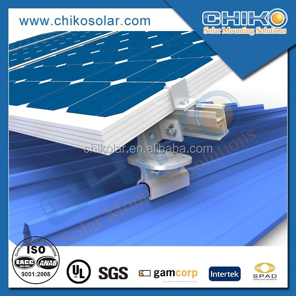 Metal Roof Solar Mount/ Tin Roof Solar Bracket/ Aluminum Solar System