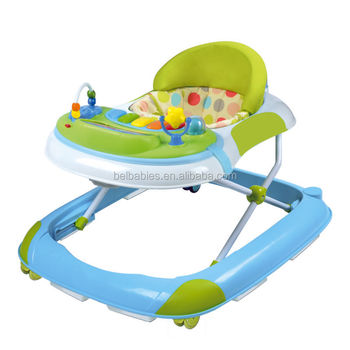 New model musical toys handle rolling big wheel baby walker