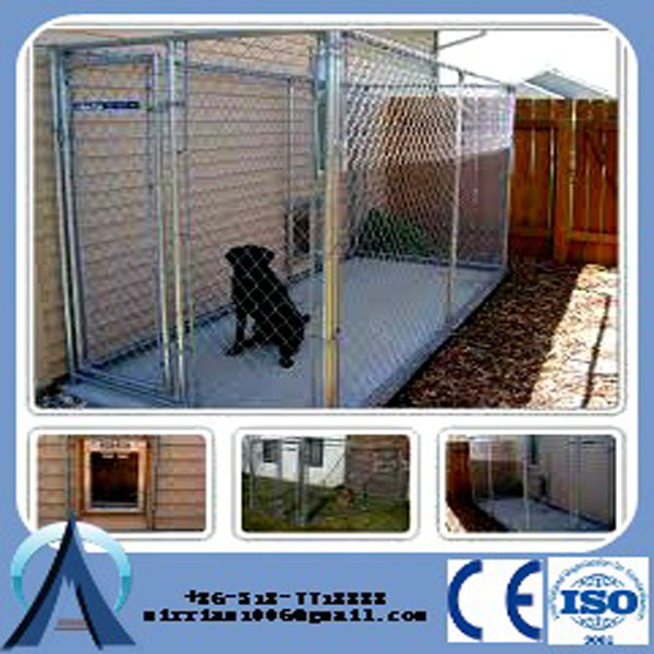 5'x10'x6' powder coated easily installation medium big dog kennels