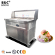 UL Approved NEW Double Round Pan 6 Buckets Fried Ice Cream Roll Machine / Flat Pan Thailand Fried Ice Cream Machine