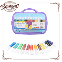 Bulk cheap non toxic acrylic paint kids set with canvas 12ml for painting, water based acrylic paint kids sets wholesale