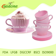 Silicone Tea Cupcake Mould with Saucer Afternoon tea cupcakes