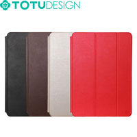 TOTU Wholesale Multi Color Smart Tablet PU Leather Case for iPad