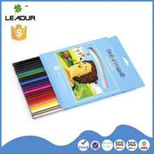Hot selling enviroment friendly funky color pencils set with case