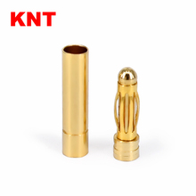 KNT 3mm gold plated Bullet Banana Plug Connector for RC Battery