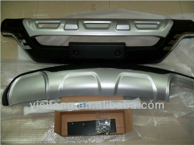 OEM ABS plastic chrome auto tuning part front and rear bumper guard skid plate for hyundai ix45 Santa Fe 2013 car body part kits