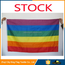 Hot Sale Rainbow Flag 3x5 FT 90x150cm Gay flag Polyester Lesbian Gay Pride Flag LGBT For Decoration