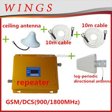 gold gsm/dcs set signal repeater ,booster signal gsm, 900 repeater 1800 gsm dual band mobile phones