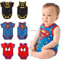 Alibaba express high quality mignion superman baby romper