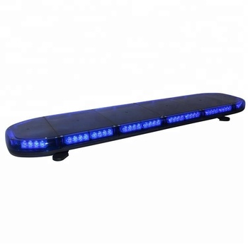 Automotive 1300mm 51 inch 88 blue leds warning flashing light bar bracket install with speaker built in siren amplifierTBD 811C4