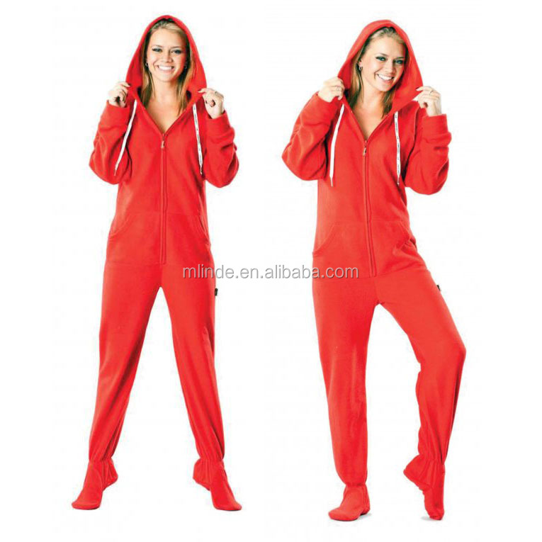 White fleece onesie Red Cheap Wholesale Adult Footed Pajamas adult onesie