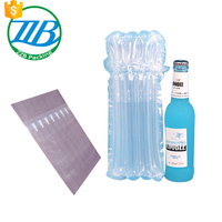 customized Glass wine bottle clear protective air cushion bag from zzb packing