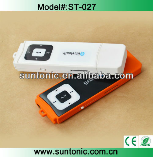2013 bluetooth MP3 player with tf card slot and FM function