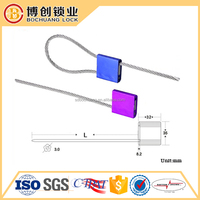 Bar coded bolt lock seal,stainless wire steel cable seal