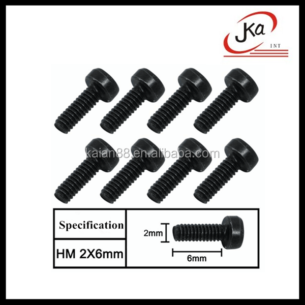 JKA RC Car Different kinds of Screw For 1/10 Scale RC Crawler SCX10 Accessories toys car screws M2*6mm