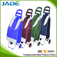 Multi-function reusable cheap foldable shopping bag/folding trolley cart for promotion