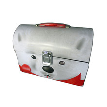 Special Shape Lunch High-capacity Treasure Box Dog Face Pattern Matt Metal Tin Box with Handle and Lock