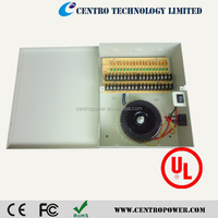 UL Listed Product CCTV Power Supply 18CH AC 24v 15a power supply