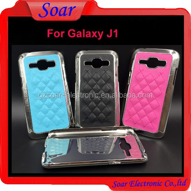 For Samsung galaxy J1 PU lagging case ,Aluminum hard cover case for Samsung galaxy J1