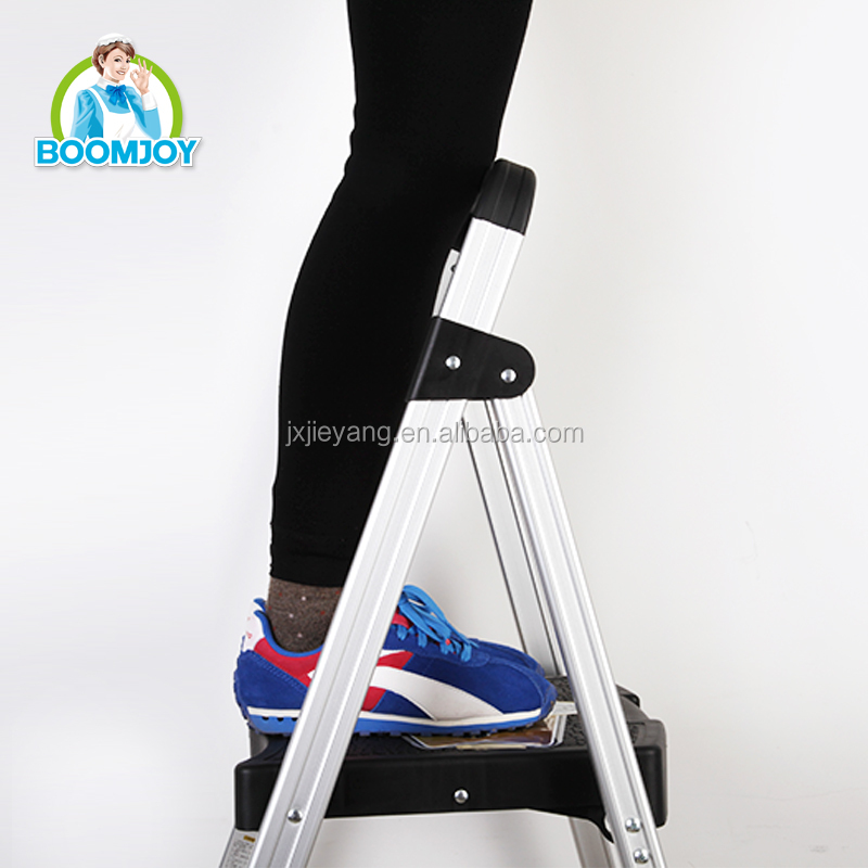 boomjoy T1 Aluminum foldable ladder/A type ladder/double side step ladder with high quality and best price