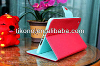 New arrive PU leather + silicon case for iPad Mini case with stand