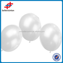 White plastic balloons, white metallic color balloons 10pcs/set