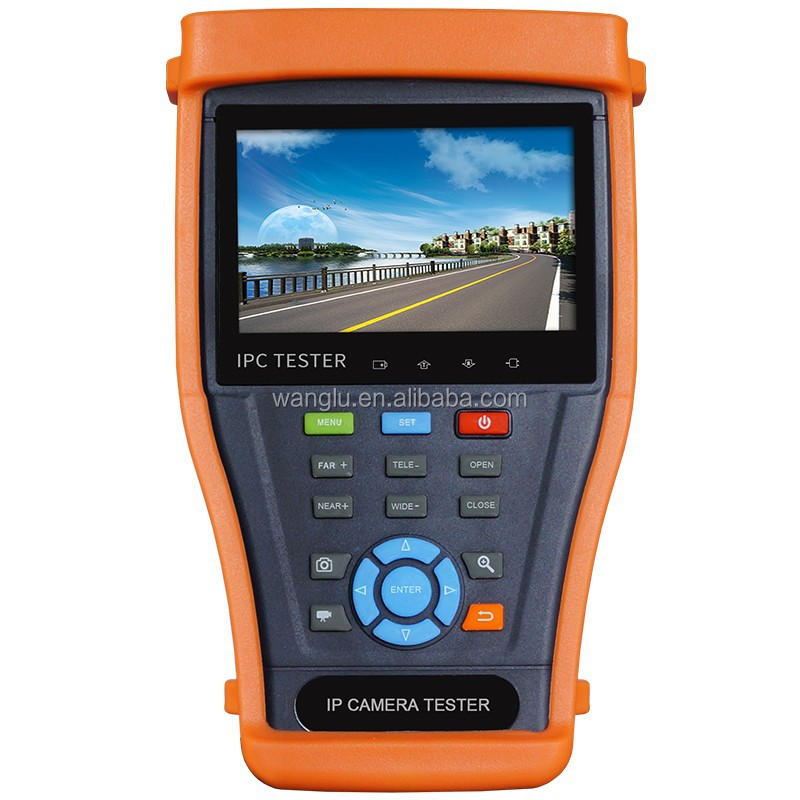 4.3 inch IP/AHD/TVI/CVI camera tester, great CCTV tools for various camera installation and maintenance