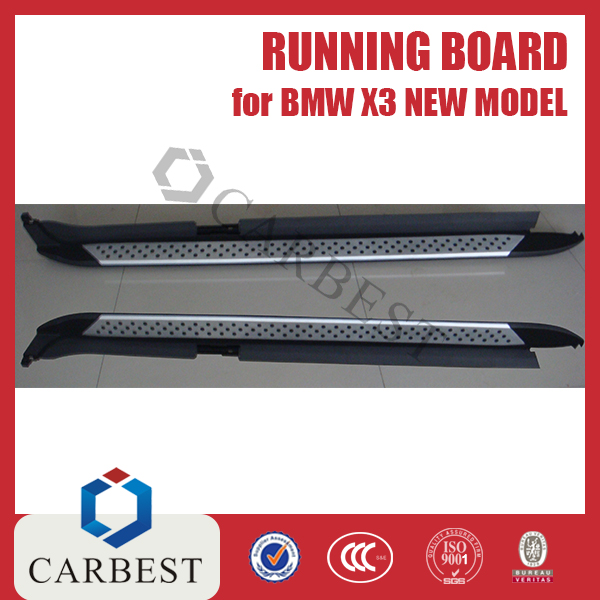 High Quality Hot Sold Aluminium Running Board Side Step for BM-W X3(NEW MODEL)