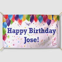 custom design printing personalised birthday banners