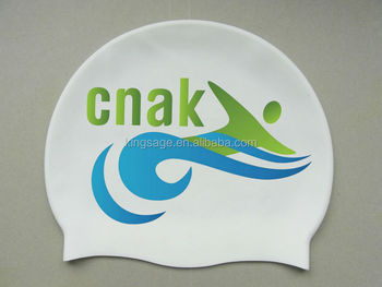waterproof printing customer logo silicone swim cap