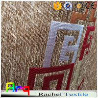 most popular geometric design heavy weight chenille jacquard curtain sofa cushion bedspread fabric