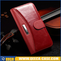 Top quality luxury wallet leather portfolio case for iphone 6 wholesale
