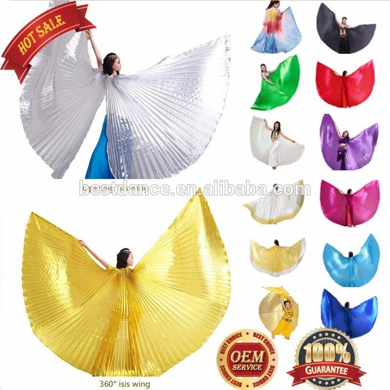 BestDance Egyptian Belly Dance bifurcate open on the back Isis Wings sticks bag OEM