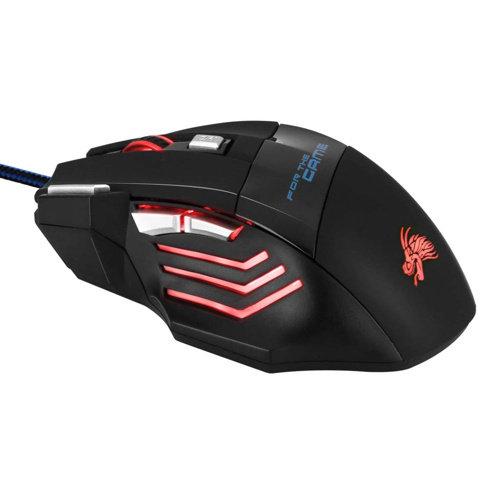 1200 DPI computer optical USB gaming mouse with multicolor breath LED light