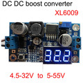 non isolated dc dc boost step up adjustable power supply module 4.5V - 32V to 5V - 55V 4A with voltmeter
