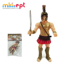 Plastic gladiators cartoon action figure doll toy for kids